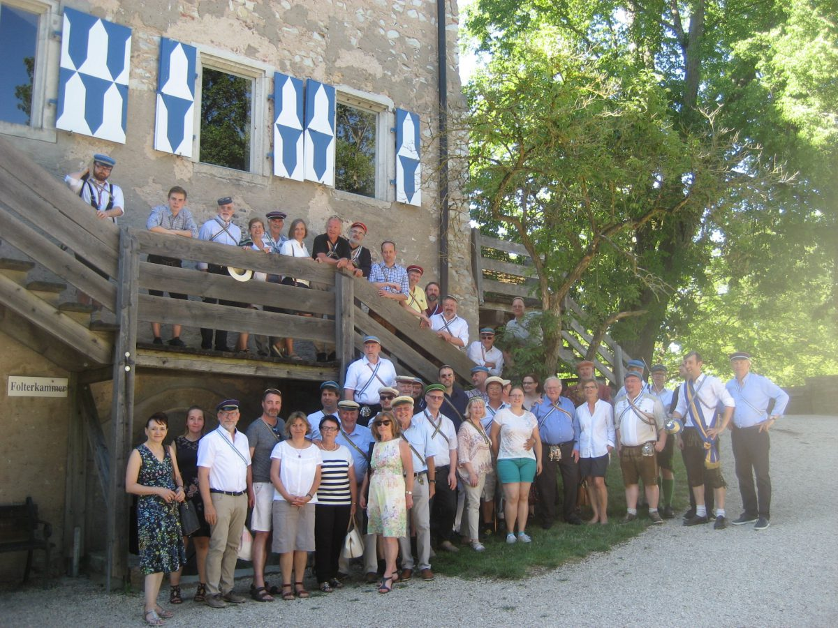 Ausflug des Passauer-Senioren-Convent   – Vielfarbenkneipe auf der Burg Pappenheim
